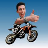 摩托车面部比赛