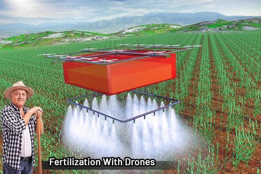 拖拉机和无人机现代农业模拟