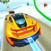 大型坡道汽车特技游戏